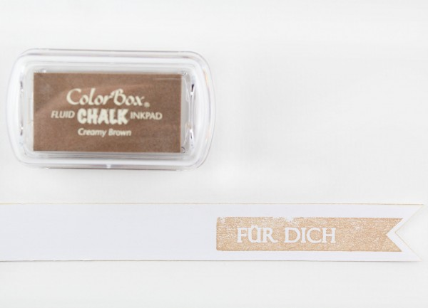 Chalk Stempelkissen Hellbraun / Creamy Brown