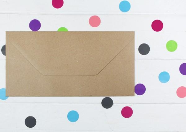 20 Briefumschläge Naturpapier Din lang