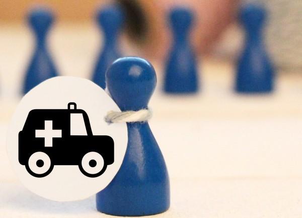 Mikrostempel Krankenwagen Doodle Stempel