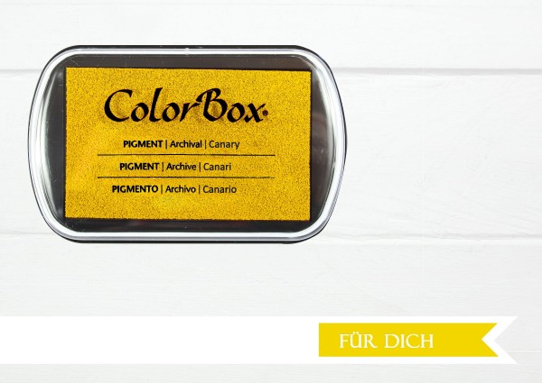 Stempelkissen Canarygelb Pigment Color Box