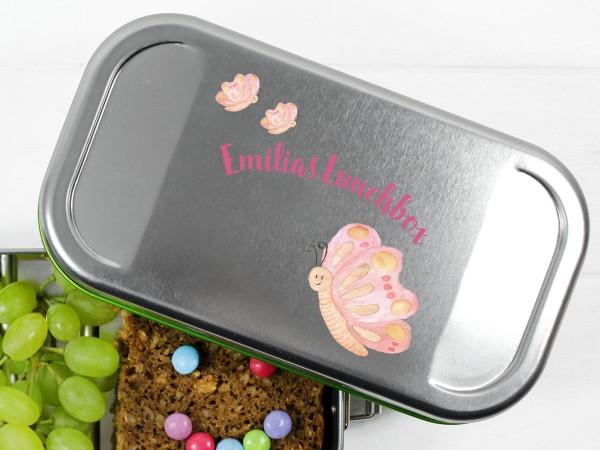Vesperbox mit Schmetterling und Namen