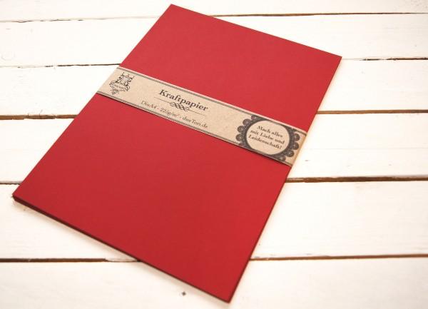 20 Blatt A4 Karton - rot