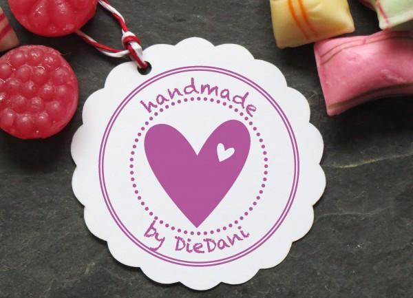 Stempel Handmade mit Herz