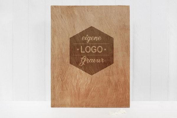 XL Fotoalbum Furnier - mit eigenem Logo