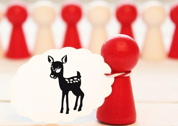 Kleiner Stempel mit Motiv: Reh, Bambi