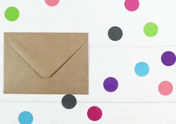 20 Briefumschläge Naturpapier gerippt Din C7