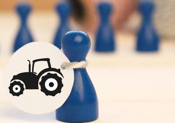 """Mikrostempel """"Traktor"""" Doodle Stempel"""