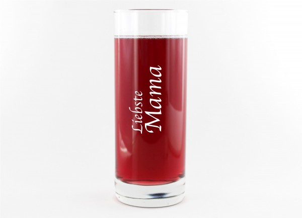 Glas mit Spruch