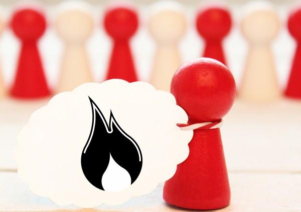Feuer Flamme Ministempel Motivstempel