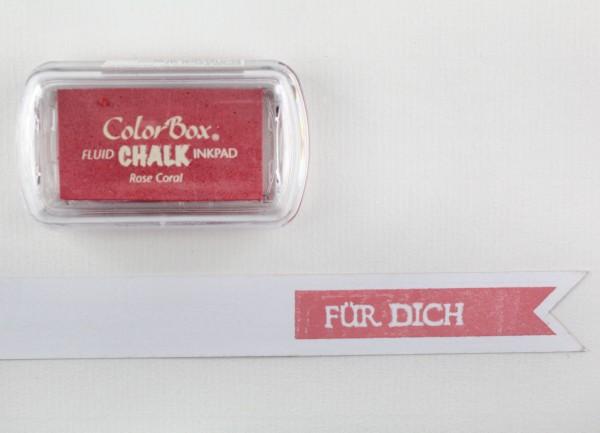 Chalk Stempelkissen Rose / Rose Coral von Clearsnap