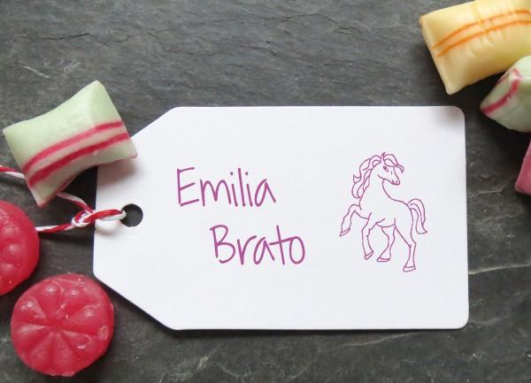 Stempel Pferd für Kinder