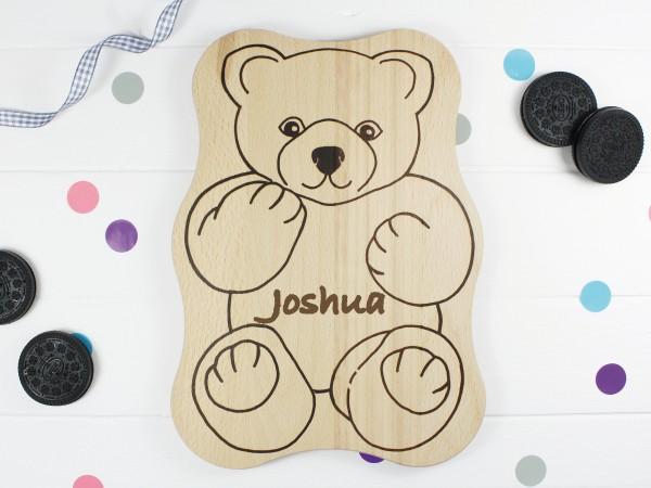 Kinderbrettchen Bärchen teddy mit Name
