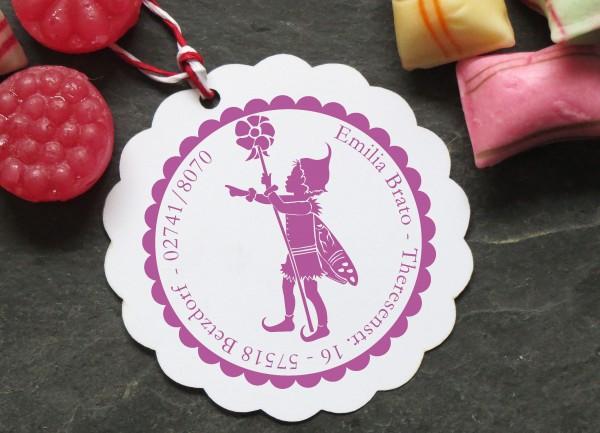 Stempel Elfe mit Blume Scherenschnitt