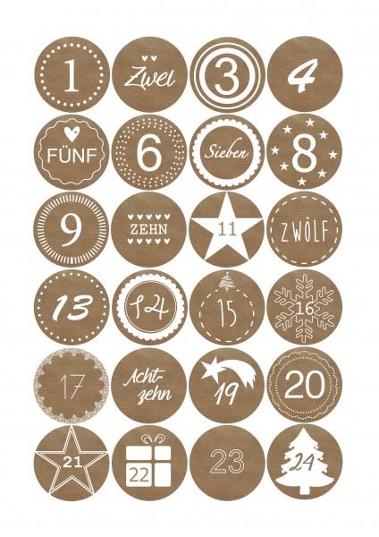 Adventskalender -Sticker
