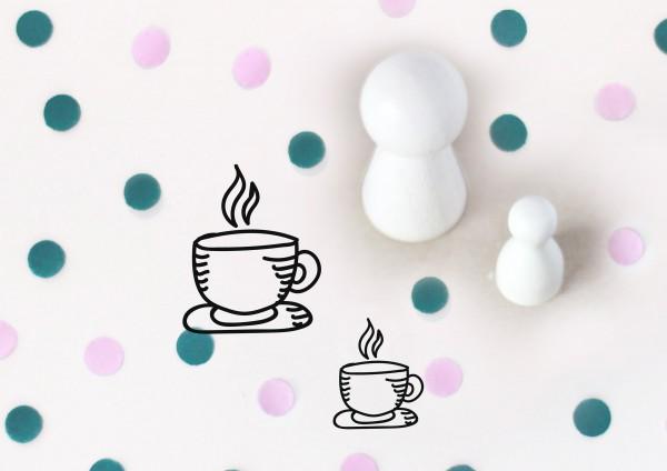 Kleiner Stempel mit Motiv: Kaffeetasse, Teetasse