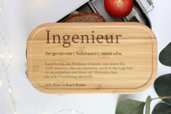 Brotdose für Ingenieur Definition Geschenk Lunchbox
