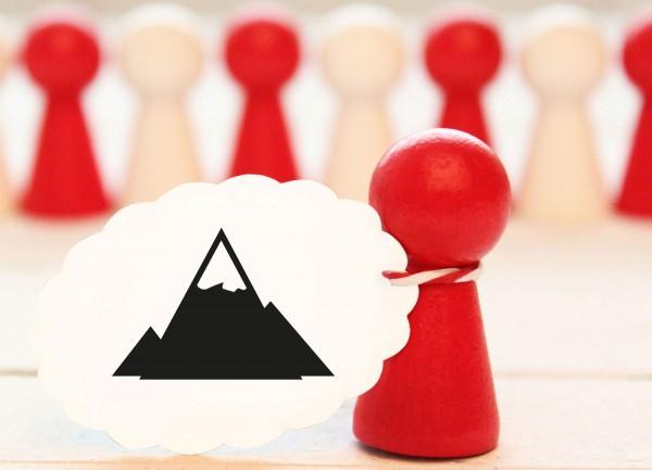 Toller Motivstempel Berg mit Eisspitze Zugspitze