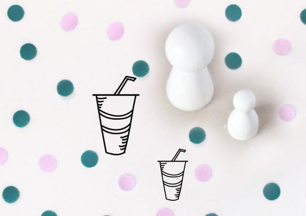 Kleiner Stempel mit Motiv: Getränk