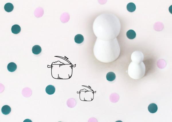 Kleiner Stempel mit Motiv: Kochtopf