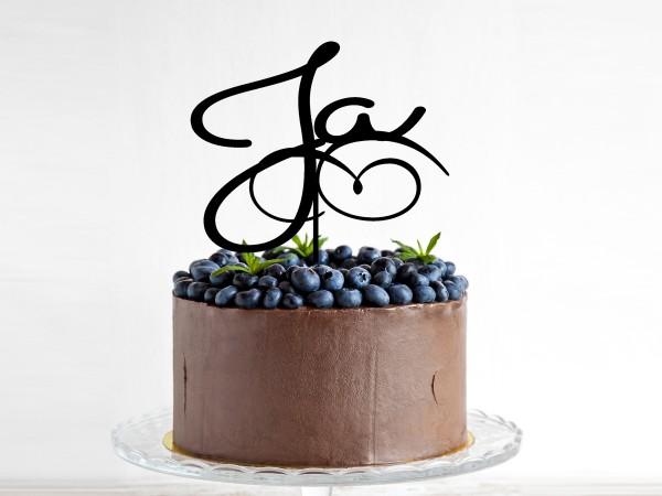Kuchenstecker mit Text JA