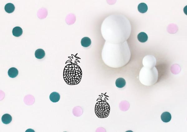 Kleiner Stempel mit Motiv: Ananas