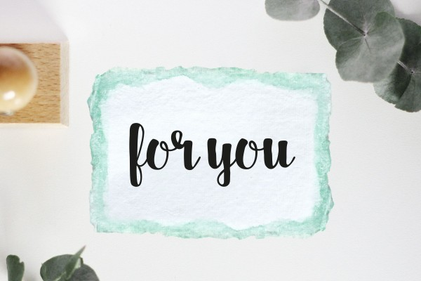 Textstempel: for you