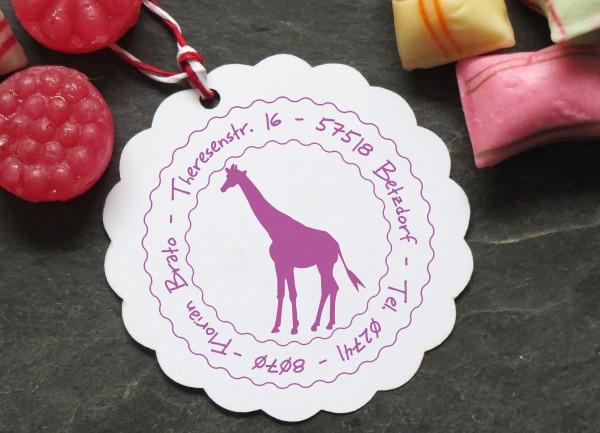 Stempel Giraffe für Kinder mit Wunschtext
