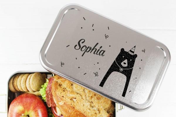 Nachhaltige Brotdose Name auf Lunchbox Party