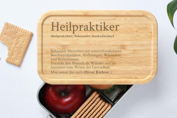Brotdose Beruf Heilpraktiker Definition