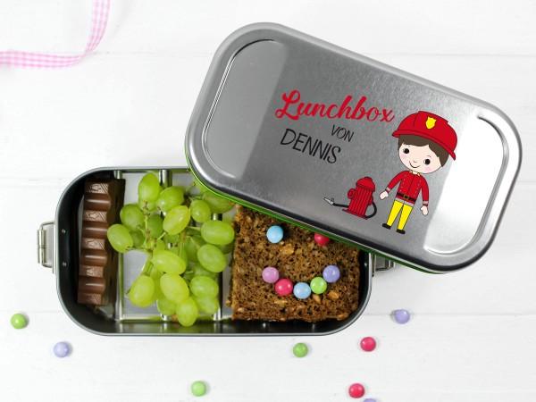 Brotdose Feuerwehrmann Frühstücksdose für Jungs