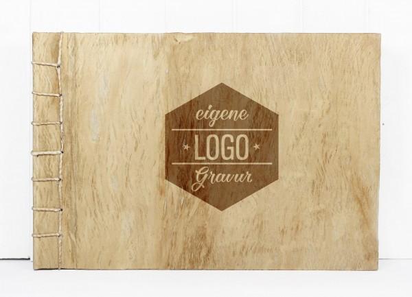 Gästebuch L - quer, mit eigenem Logo