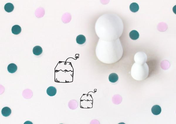 Kleiner Stempel mit Motiv: Teebeutel