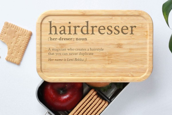 Brotdose für Hairdresser Definition Geschenk Lunchbox