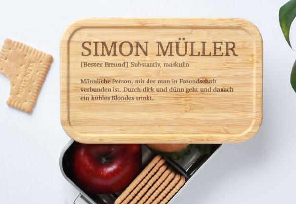 Nachhaltige Brotdose Definition bester Freund oder Kollege