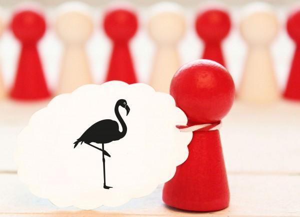 Toller Motivstempel Flamingo Tierstempel