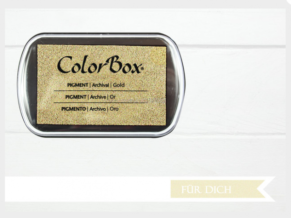 Pigment Stempelkissen Gold XL