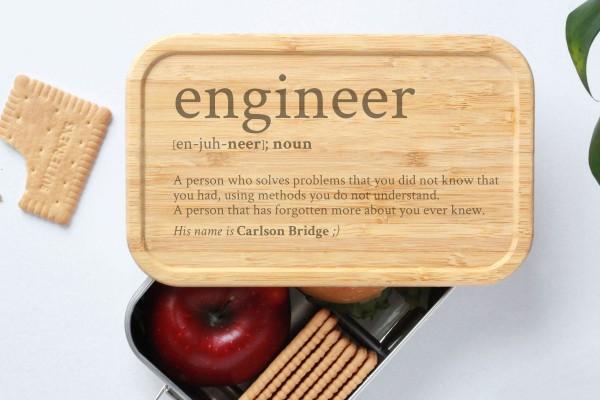 Brotdose für Engineer Definition Geschenk Lunchbox