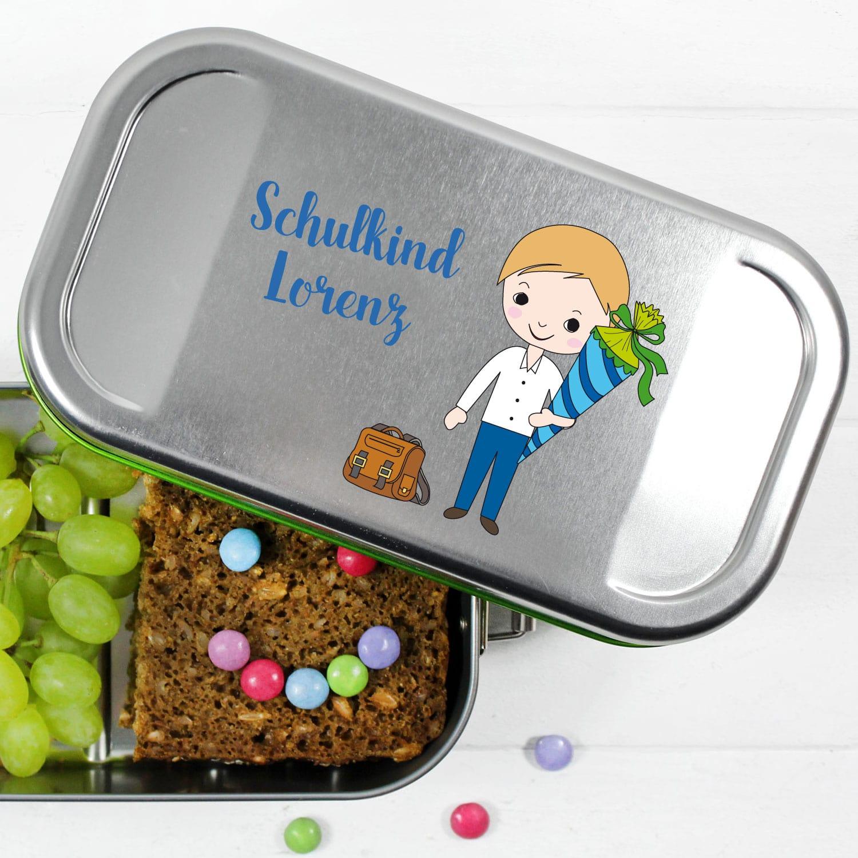 RosiRosinchen Pferd und Fohlen Brotdose mit Namen Hannoveraner Kindergarten Brotdose