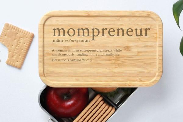 Brotdose für Mompreneur Definition Geschenk Lunchbox