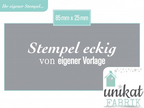 Stempel mit Logo im Format 85 x 25 mm von eigener Datei