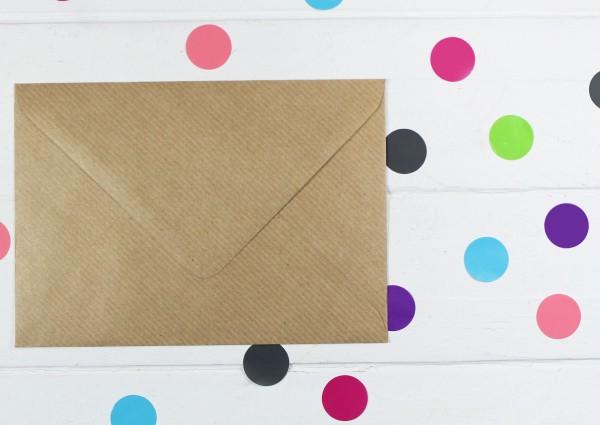 20 Briefumschläge Naturpapier DinC6 - gerippt