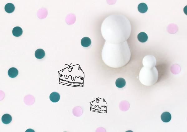 Kleiner Stempel mit Motiv: Tortenstück
