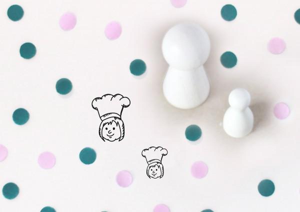 Kleiner Stempel mit Motiv: Köchin