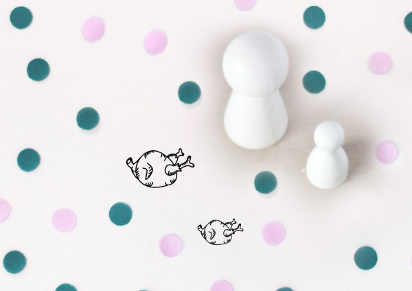 Kleiner Stempel mit Motiv: Hähnchen