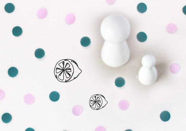 Kleiner Stempel mit Motiv: Zitrone