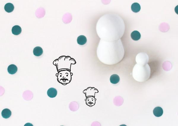 Kleiner Stempel mit Motiv: Koch