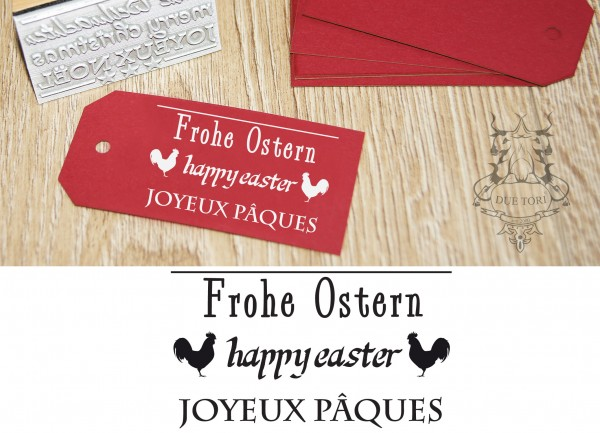 Textstempel - Frohe Ostern -