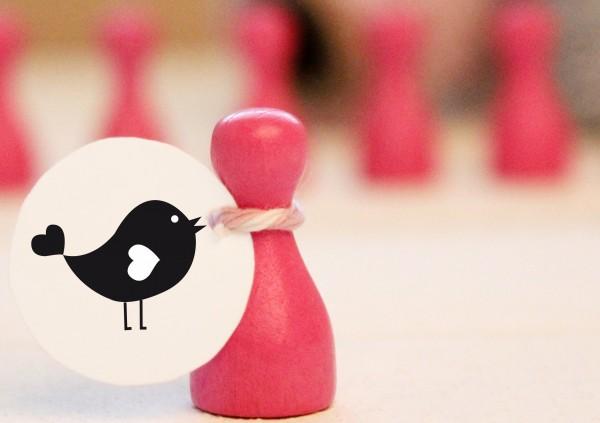 Kleiner Stempel mit Motiv: Vögelchen
