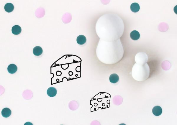 Kleiner Stempel mit Motiv: Käse