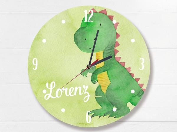 Wanduhr Dinosaurier mit Namen